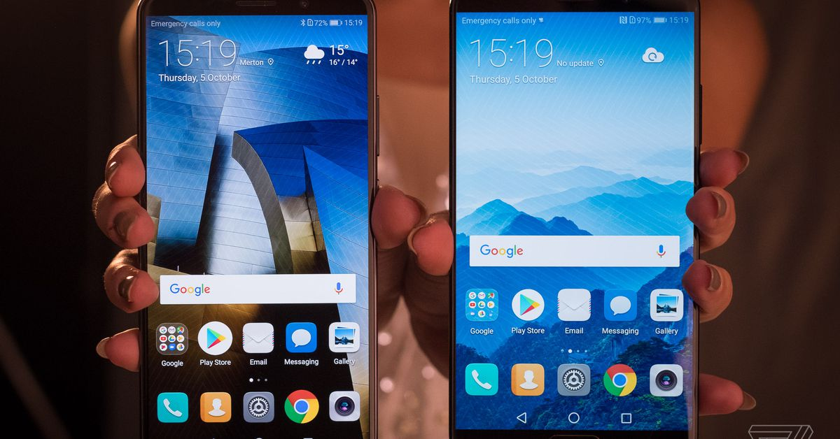 Huawei's Mate 10 phones have big screens, small bezels, and AI hardware