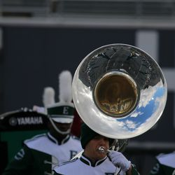 Another shot of the band at halftime.