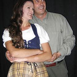 """Leslie Johnson stars as Fiona and Mark Carpenter as Tommy in the Draper Arts Council's """"Brigadoon."""""""