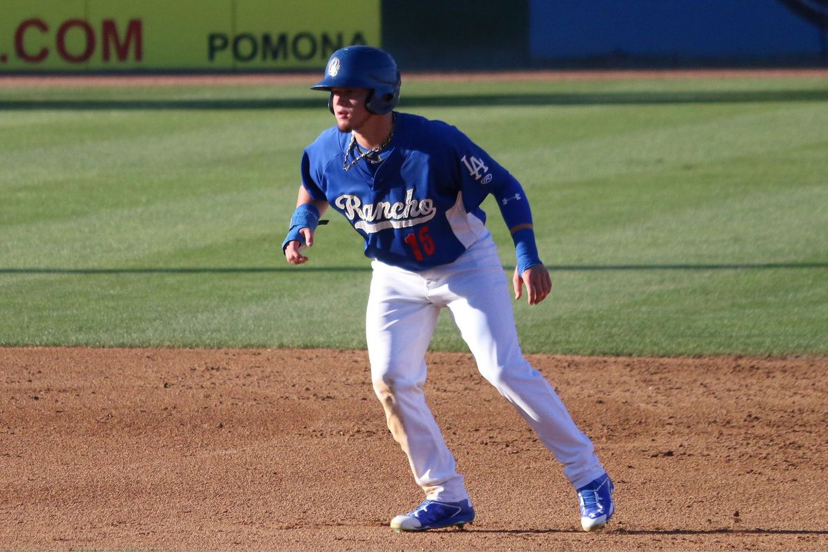 Alex Verdugo had a .659 slugging percentage and 15 extra-base hits in 23 games after his promotion to Advanced Class-A Rancho Cucamonga in 2015.