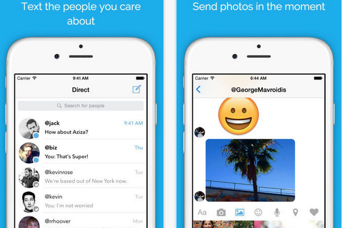 Direct Messenger is an unofficial app for sliding into