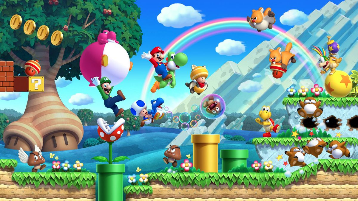 New Super Mario Bros U Review New Tricks Polygon