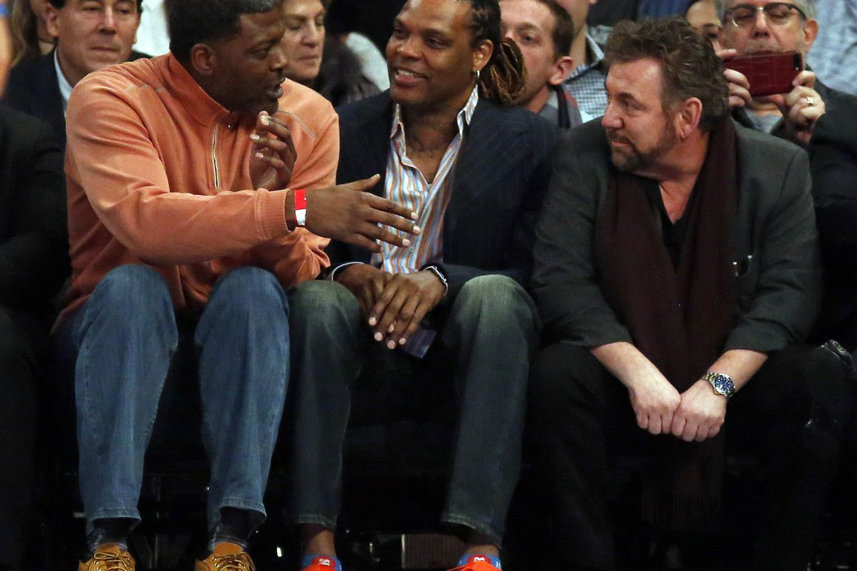 James Dolan and Latrell Sprewell end their 13 year beef at Knicks