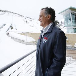 Mitt Romney looks over the Utah Olympic Park in Park City on Friday, Feb. 3, 2017. Romney was at the park for a staff celebration of the 15-year anniversary of the 2002 Olympics.
