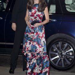 Attending a gala dinner in an Erdem gown on October 27th, 2015.