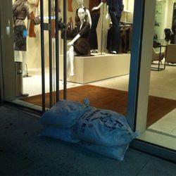 Sandbags at Elie Tahari on West Broadway