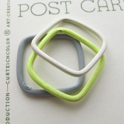 Industrial stacking rings, $20 for set of three (were $40)
