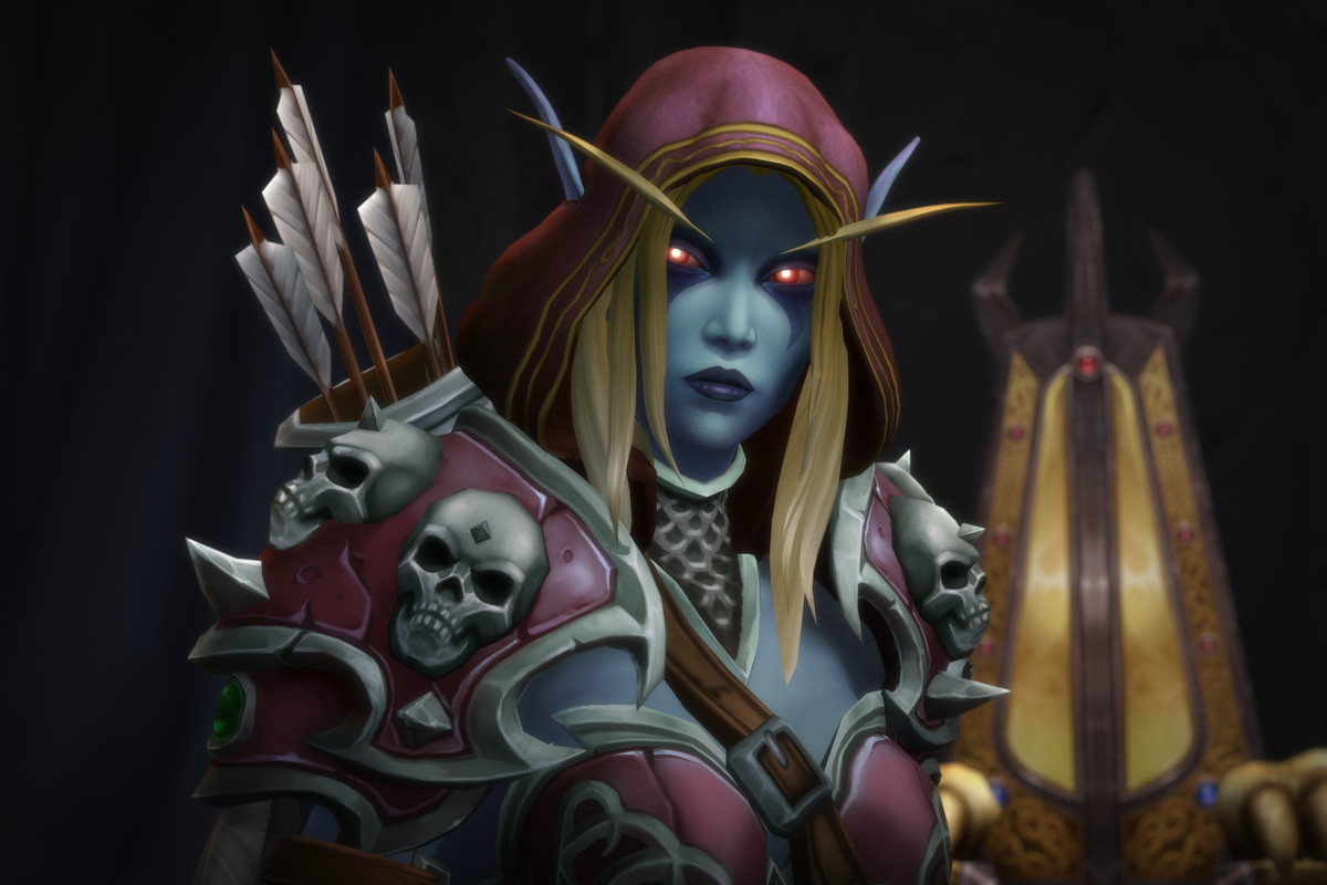 World of Warcraft: Battle for Azeroth - Sylvanas Windrunner stands in her throne room