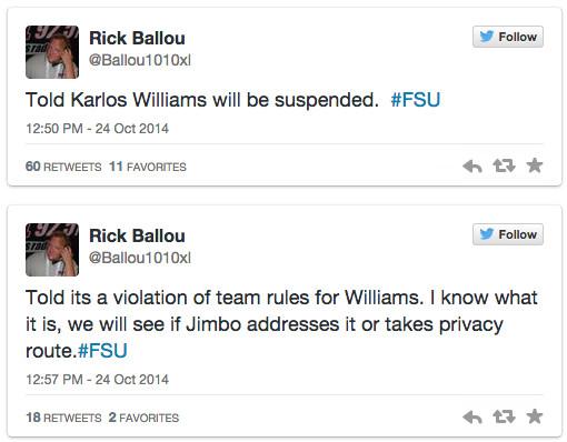 Rick Ballou Screenshot (FSU)
