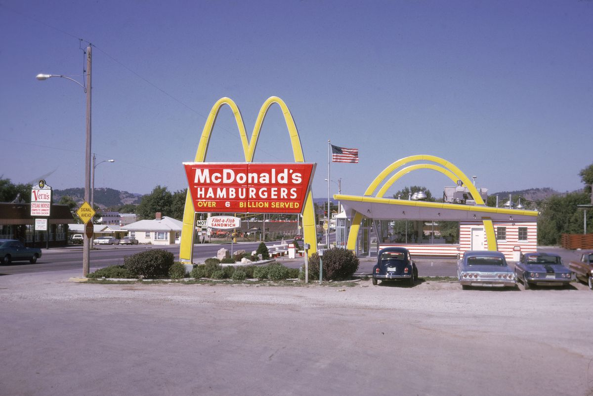 The McDonald's in Downey, California (Photo by Hulton Archive/Getty Images)