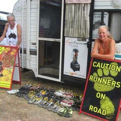 Alan Murray, 68, and wife Janette Murray-Wakelin, 64, can truly say they've been there for each other through the sweat and the tears during their 43 years of marriage, particularly during this past year, in which the couple from New Zealand ran a marathon every day.