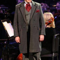 English actor Hugh Bonneville narrates during the Mormon Tabernacle Choir Christmas concert in Salt Lake City on Thursday, Dec. 14, 2017.