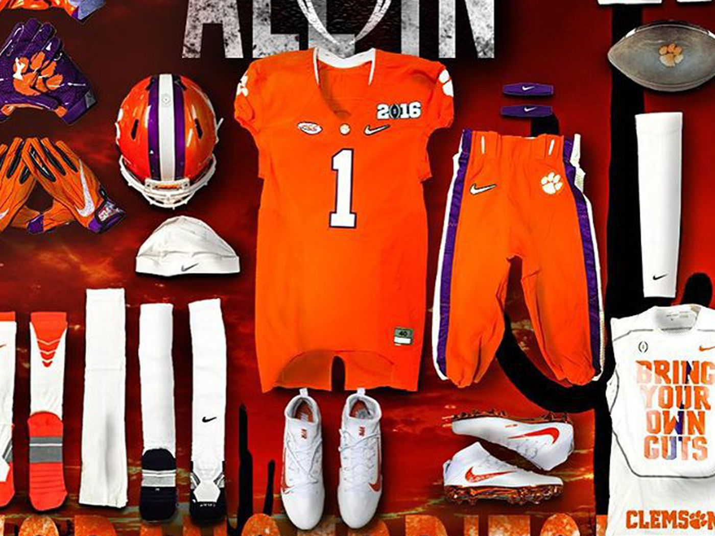 National Championship Uniforms Revealed With Clemson In Head To Toe Orange Sbnation Com