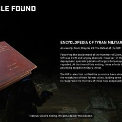 Collectible 1: Encyclopedia of Tyrian military history