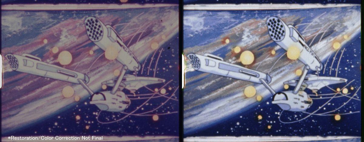 Frame comparison of the Daicon III remaster: star trek ship