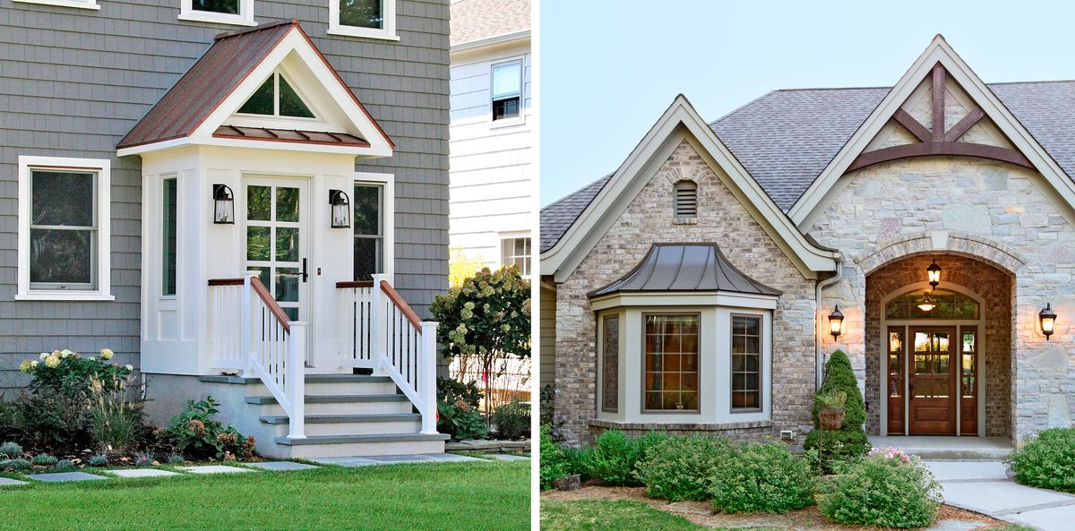 portico and bay window metal roof accents, July/Aug 2020
