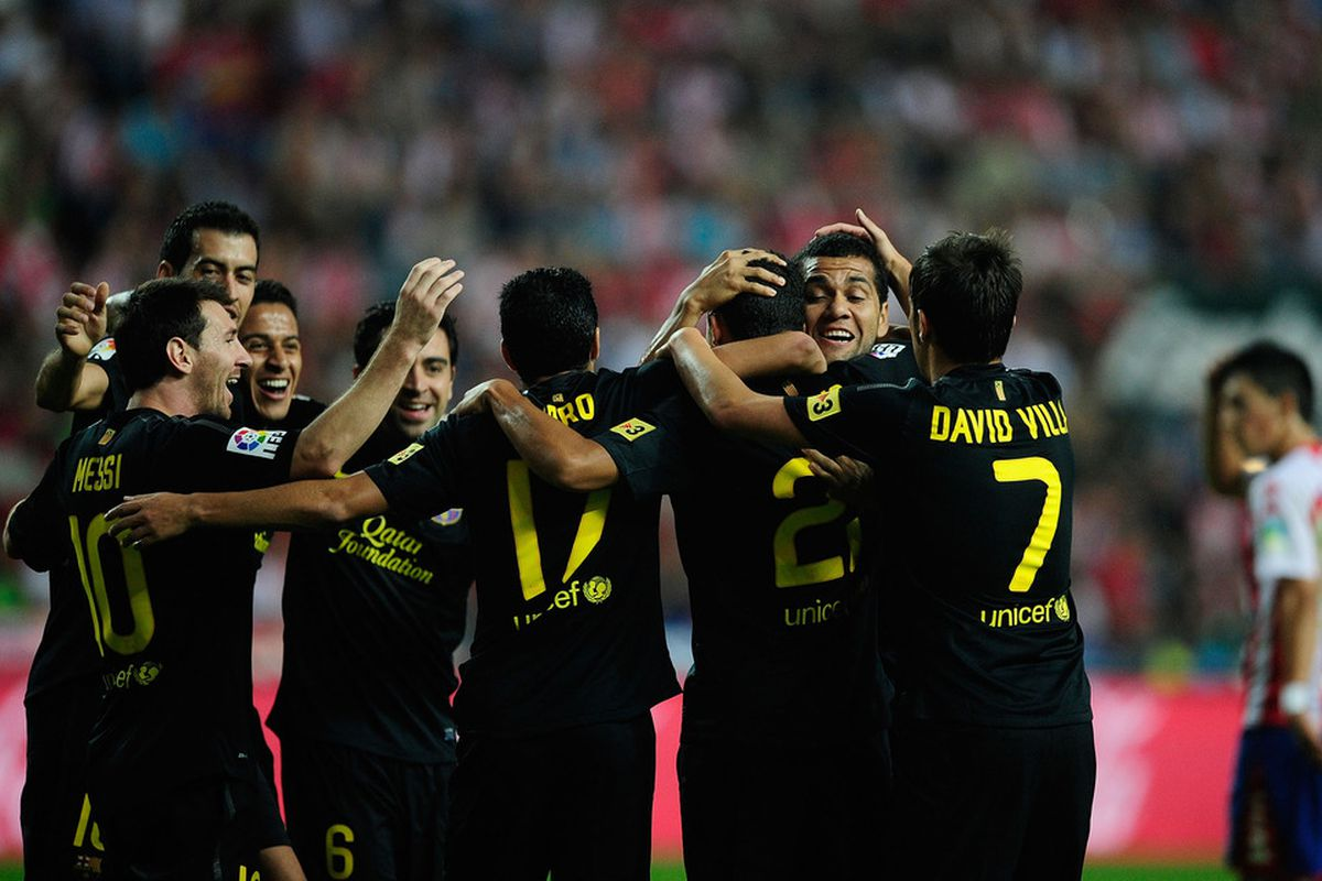 FC Barcelona is in first place for the first time this season.