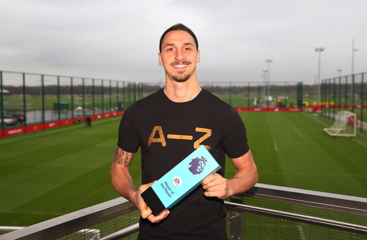 Premier League Player and Goal of the Month Awards are Presented to Zlatan Ibrahimovic and Henrikh Mkhitaryan