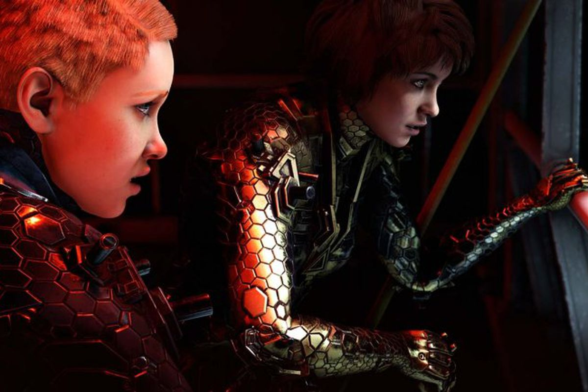 Soph (left) and Jess get ready to surprise an enemy in Wolfenstein: Youngblood