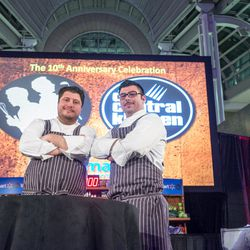 Anthony Lombardo of 1789, left, and his sous chef.