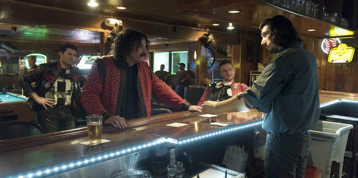 Seth MacFarlane and Adam Driver in Logan Lucky