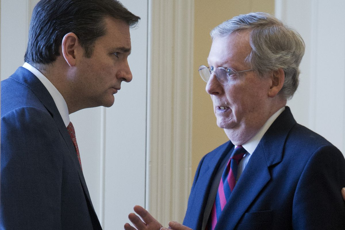 If Mitch McConnell wants a drama-free lame duck, he's going to have to give Ted Cruz a talking-to.