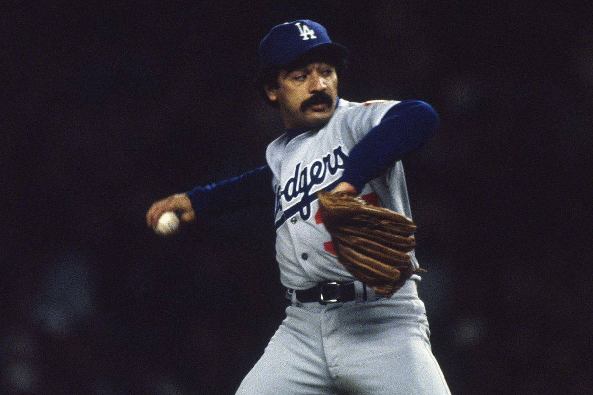 Bobby Castillo, pitching in the 1981 World Series.