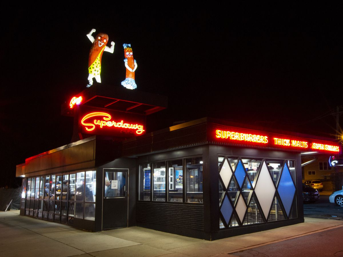 For more than seven decades, Maury and Flaurie, two giant 12-foot fiberglass wieners model after the drive-in's founders, have stood guard in Norwood Park.