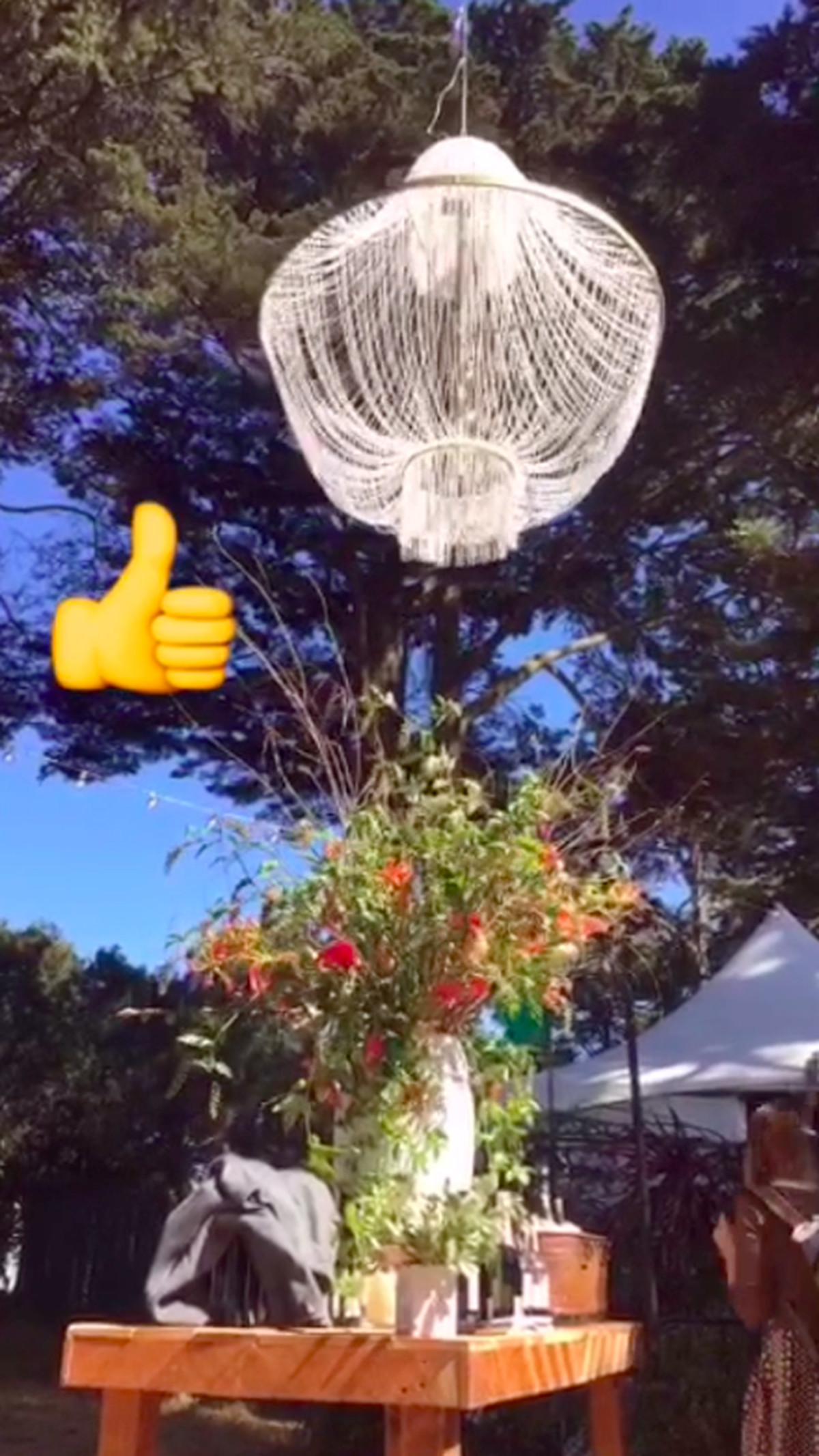 Roy choi to host a whimsical feast in the trees at outside lands last years chandelier ellen fort arubaitofo Image collections