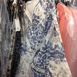 Long sleeve printed gown, $250