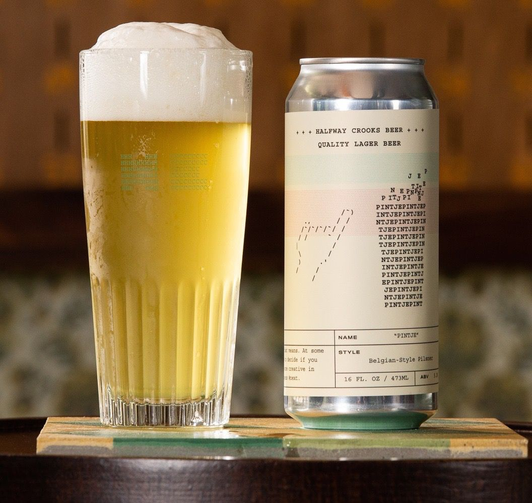 Pintje, a Belgian-style pilsner from Halfway Crooks Beer in Summerhill
