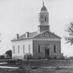 This is the original Utah Stake Tabernacle. It was dedicated in 1867 and remained in use until it was torn down in 1919.
