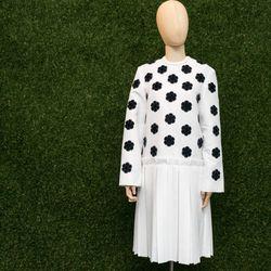 Steven Tai fuzzy embroidery satin dress, $748