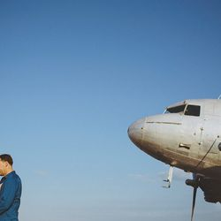 """With the right photographer, an engagement shoot at <a href=""""http://www.miami-airport.com/opalocka.asp"""">Opa-locka Executive Airport</a> can give Ingrid Bergman and Humphrey Bogart a run for their money in the final scene of <i>Casablanca</i>. [Photo: <a h"""