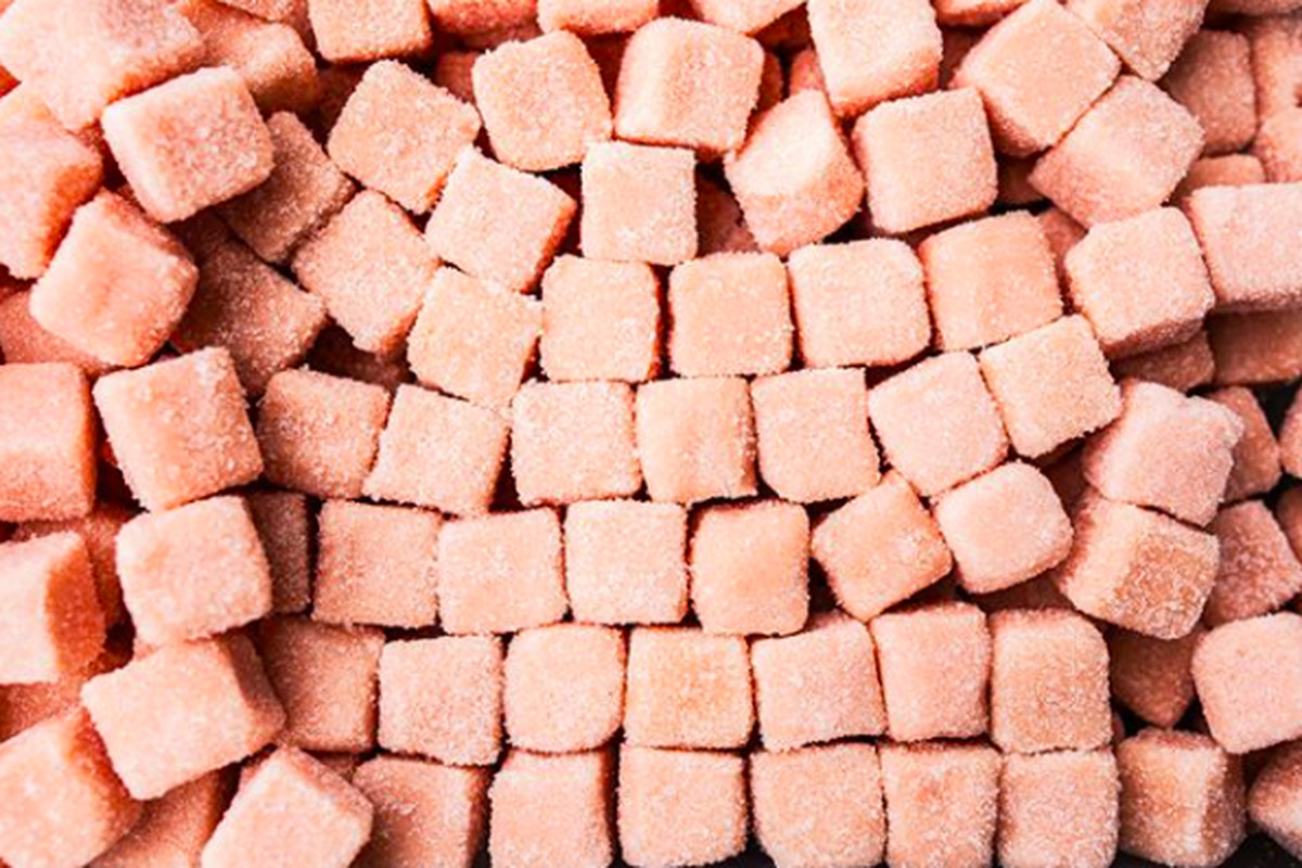 Harper + Ari peach exfoliating sugar cubes