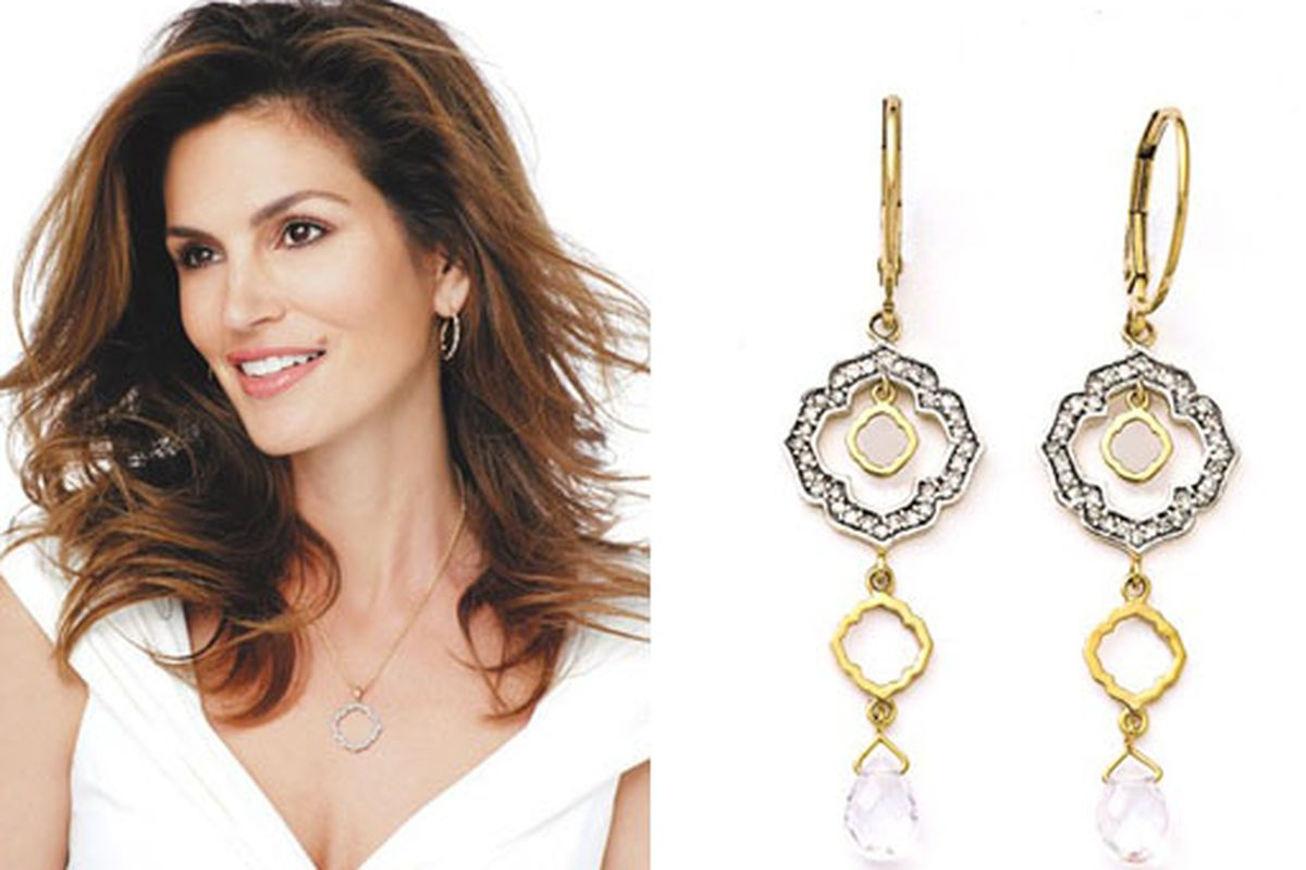 """Images via <a href=""""http://www.wwd.com/markets-news/cindy-crawford-teams-with-penneys-for-jewelry-line-2446079?module=today#"""">WWD</a>"""