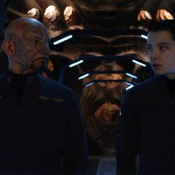 """From left, Ben Kingsley and Asa Butterfield star in """"Ender's Game."""""""
