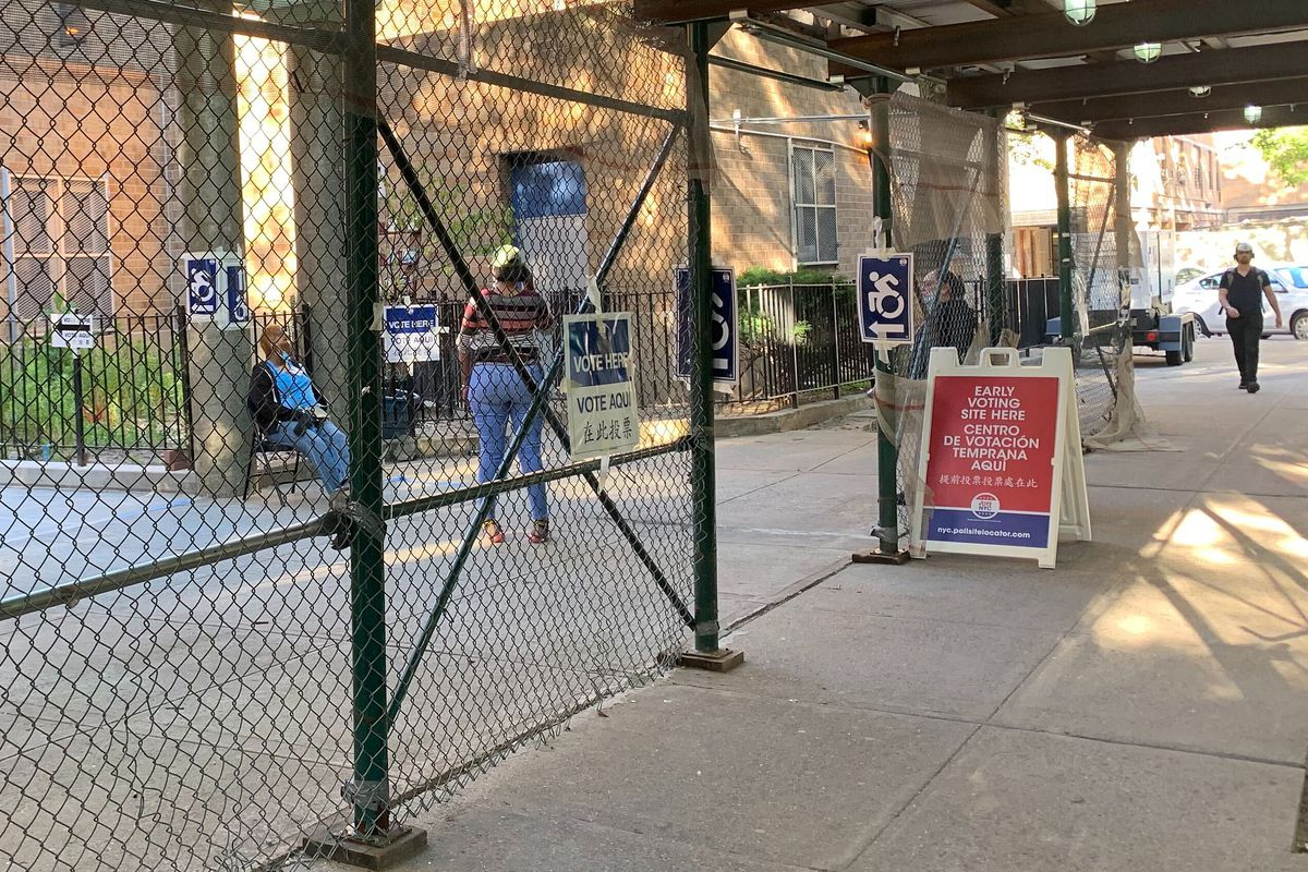 An early voting site in the East Village was nearly empty, June 16, 2020.