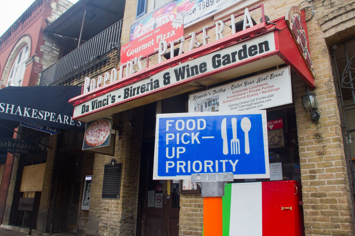 A food pickup priority zone along Sixth Street