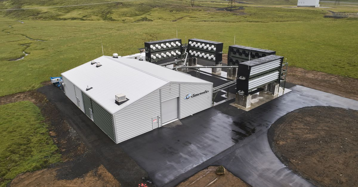 How the largest direct air capture plant will suck C02 out of the atmosphere