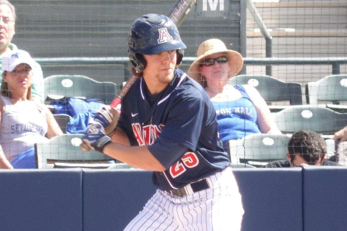 Scott Kingery was the only Wildcat to register a multi-hit game against Seton Hall