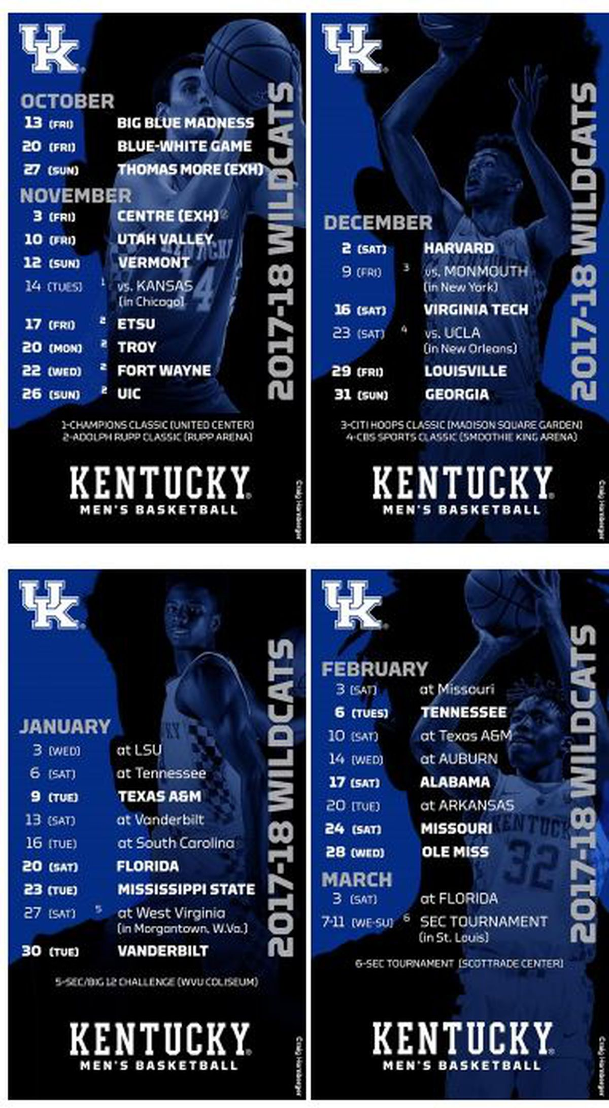 Effortless image with regard to kentucky basketball schedule printable
