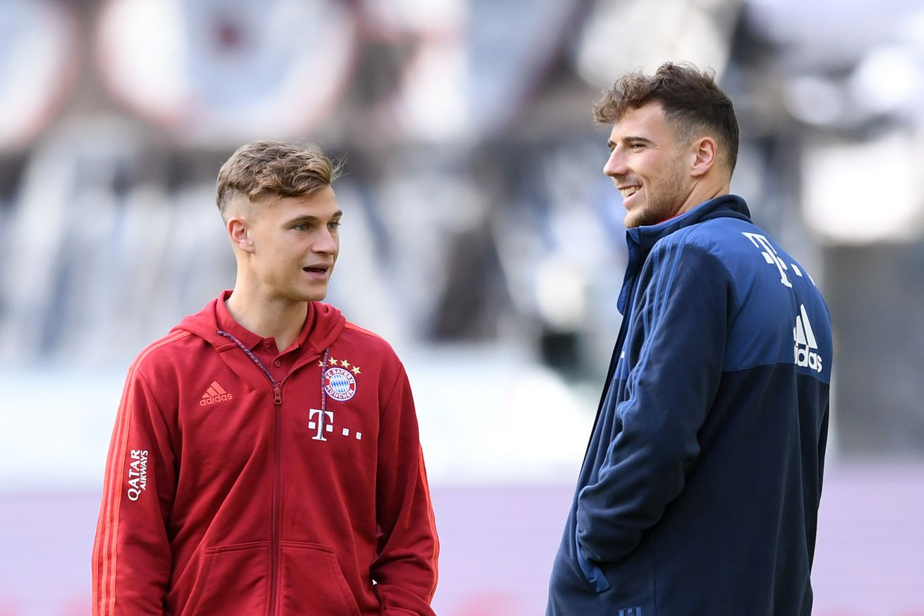 Leon Goretzka talks about how much he loves playing with Kimmich in midfield!