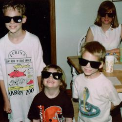 Mike, Caroline, Jack and Diane Laney Fitzpatrick in 1996 in Cary, Ill. They moved nine times while the kids were growing up, relying heavily on both routine and flexibility to thrive.