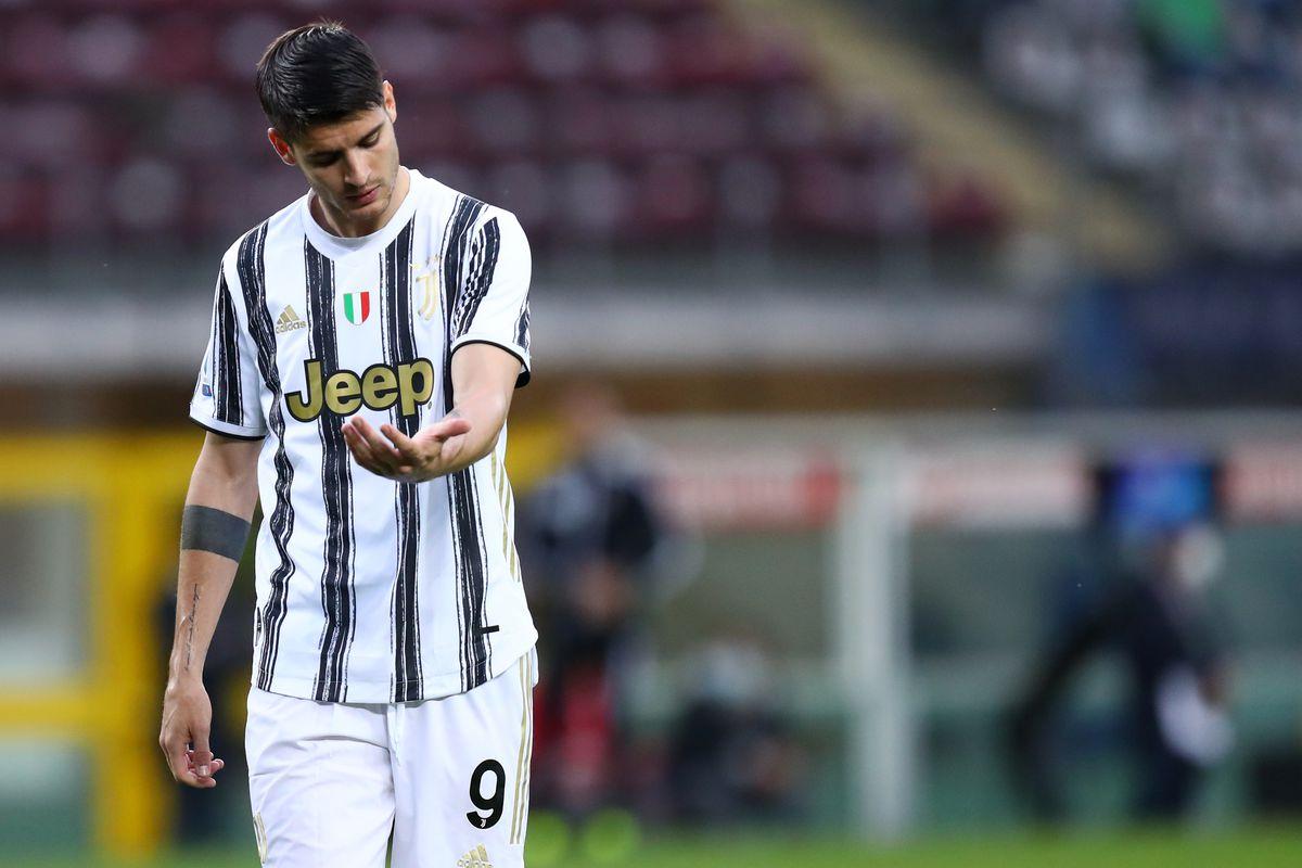 Alvaro Morata of Juventus Fc looks on during the Serie A...