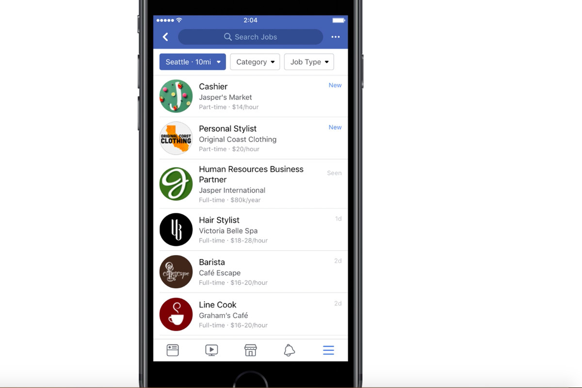 Facebook Rolls Out a New Jobs Marketplace