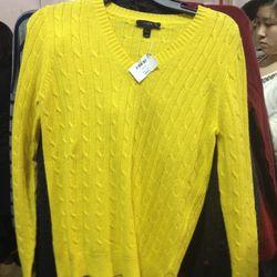 $35 cotton sweater