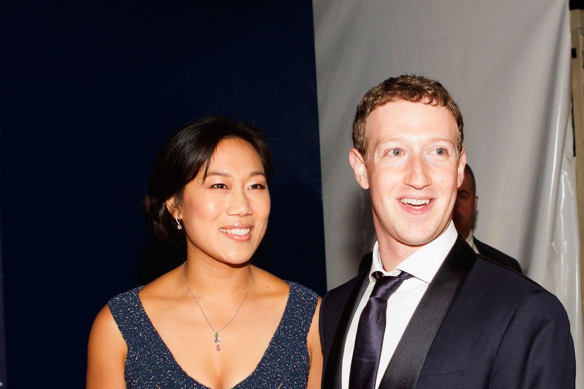 Facebook founder Mark Zuckerberg and his wife, Priscilla Chan.
