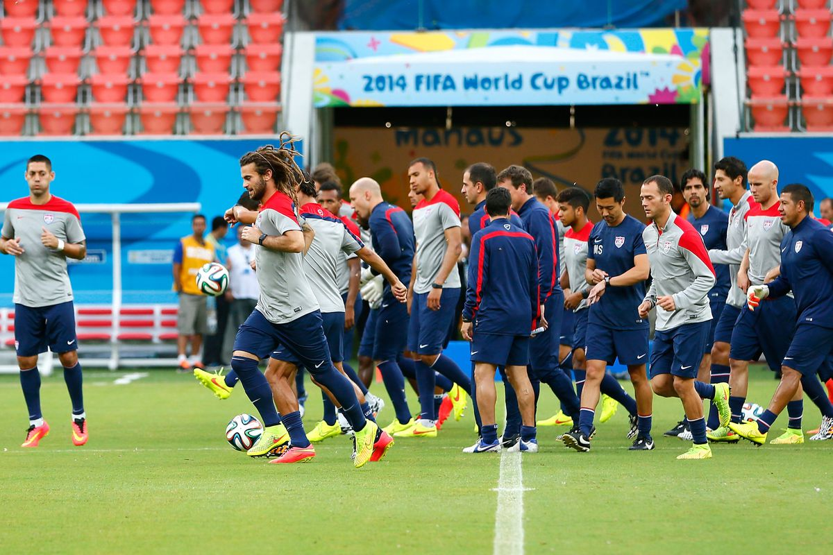 The team trains in Manaus ahead of its game against Portugal