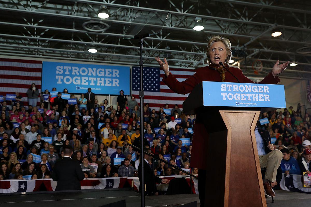 Hillary Clinton campaigns in Pennsylvania.